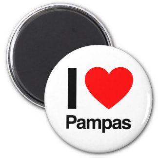 i love pampas 2 inch round magnet