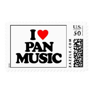 I LOVE PAN MUSIC POSTAGE