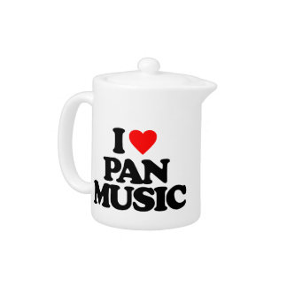 I LOVE PAN MUSIC TEAPOT