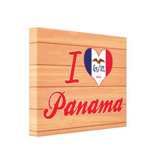 I Love Panama, Iowa Gallery Wrapped Canvas