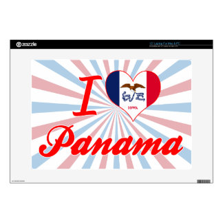 I Love Panama, Iowa Laptop Decals