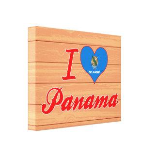 I Love Panama, Oklahoma Canvas Print