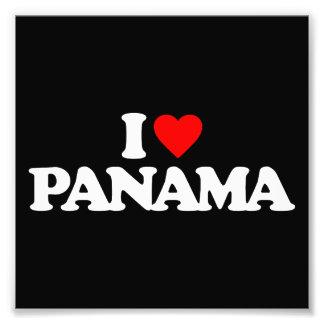 I LOVE PANAMA PHOTO PRINT