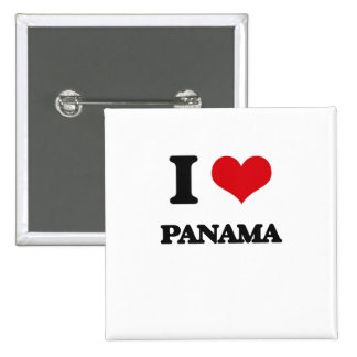 I Love Panama Pinback Button