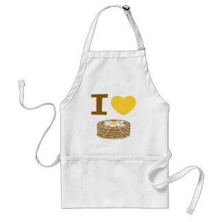 I Love Pancakes Adult Apron