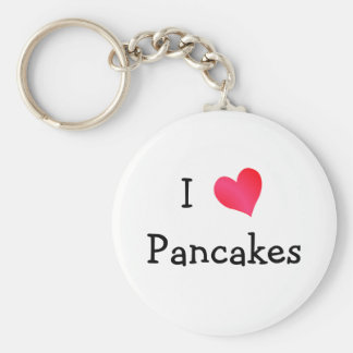 I Love Pancakes Basic Round Button Keychain