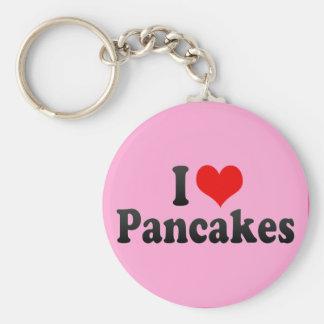 I Love Pancakes Keychain
