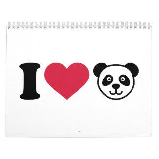 I love Panda Bear Calendar