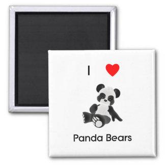 I Love Panda Bears Magnet