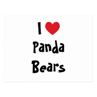 I Love Panda Bears Postcard