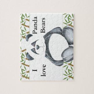 I Love Panda Bears Puzzle