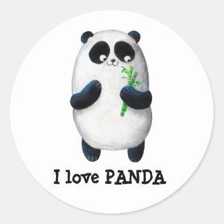 I love Panda Classic Round Sticker