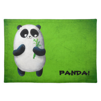 I love Panda Cloth Placemat