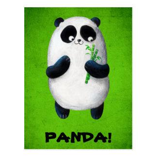 I love Panda Postcard