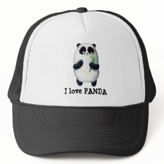 I love Panda Trucker Hats