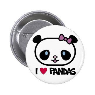 I Love Pandas 2 Inch Round Button