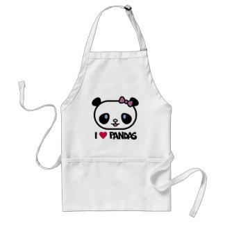 I Love Pandas Apron