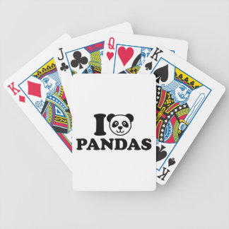 I love Pandas Bicycle Playing Cards