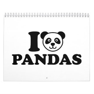I love Pandas Calendar