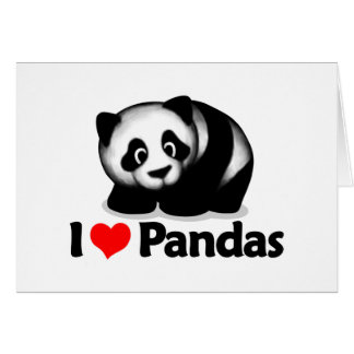 I Love Pandas Card