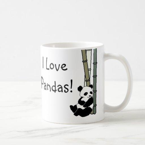 I Love Pandas Classic White Coffee Mug