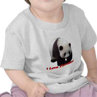 I Love Pandas! Giant Panda Infant Shirt