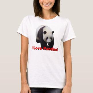 I Love Pandas! Giant Panda Women's Baby Doll Shirt