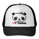 I Love Pandas Hats