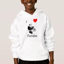 I Love Pandas Hoodie