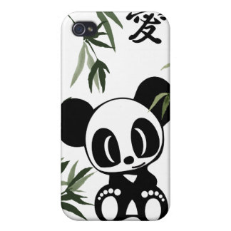I Love Pandas iPhone 4/4S Cover