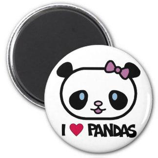 I Love Pandas Magnets