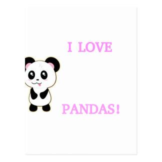 I LOVE PANDAS! POSTCARD