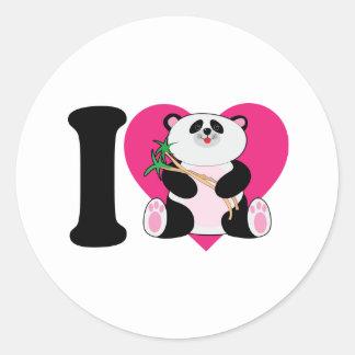 I Love Pandas Stickers