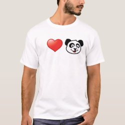 Men's Basic T-Shirt with I Love Pandas design
