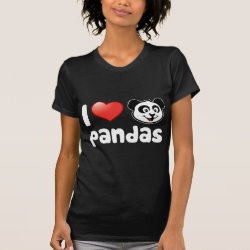 Women's American Apparel Fine Jersey Short Sleeve T-Shirt with I Love Pandas design