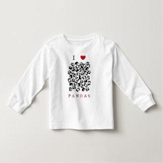 I love pandas toddler t-shirt
