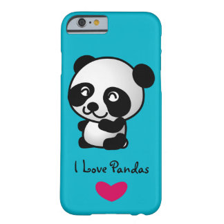 I love pandas with happy panda bear barely there iPhone 6 case