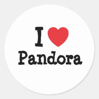 I love Pandora heart T-Shirt Classic Round Sticker