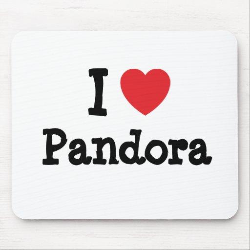 I love Pandora heart T-Shirt Mouse Pad