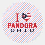 I love Pandora, Ohio Classic Round Sticker