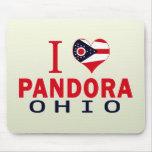 I love Pandora, Ohio Mouse Pad