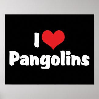 I Love Pangolins Print