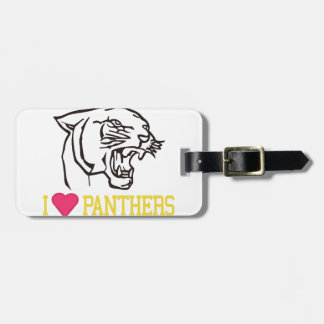 I Love Panthers Bag Tag