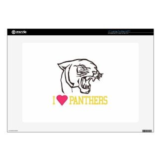 """I Love Panthers Decal For 15"""" Laptop"""