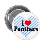 I Love Panthers Pins
