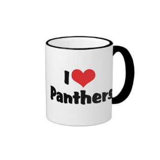 I Love Panthers Ringer Mug