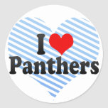 I Love Panthers Sticker