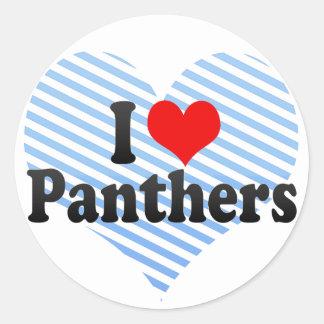 I Love Panthers Sticker