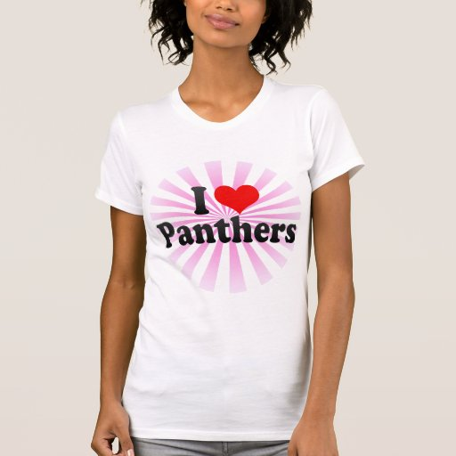 I Love Panthers T Shirts