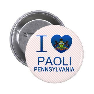 I Love Paoli, PA 2 Inch Round Button
